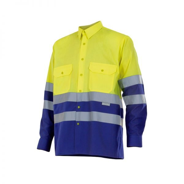 camisa-velilla-alta-visibilidad-144-amarillo-azul-royal