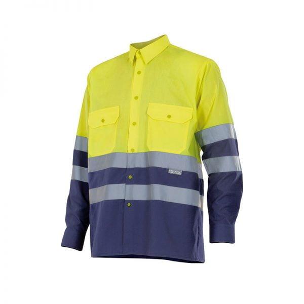 camisa-velilla-alta-visibilidad-144-amarillo-marino
