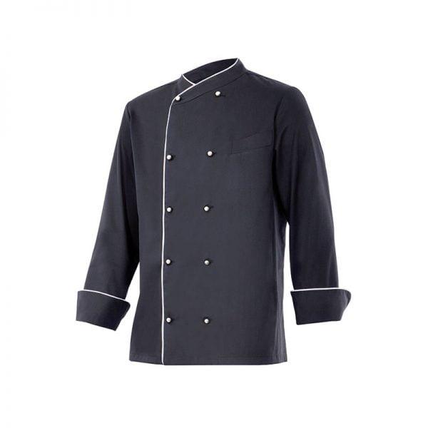 chaqueta-cocina-velilla-eneldo-negro-blanco
