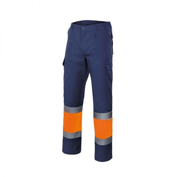 pantalon-velilla-alta-visibilidad-157-marino-naranja