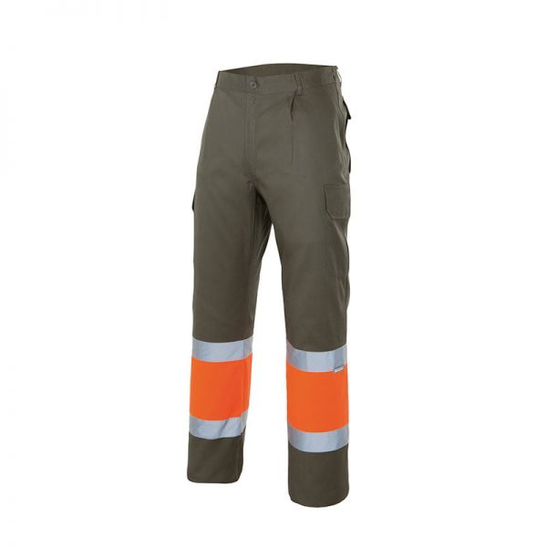 pantalon-velilla-alta-visibilidad-157-verde-caza-naranja