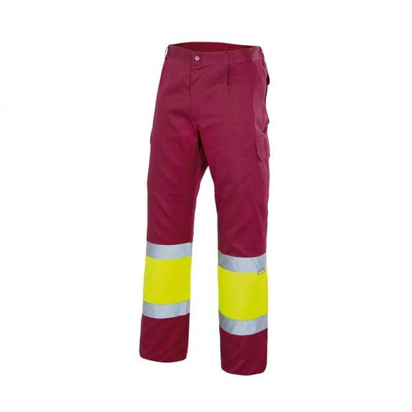 pantalon-velilla-alta-visibilidad-157c-granate-amarillo