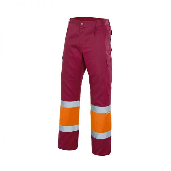 pantalon-velilla-alta-visibilidad-157c-granate-naranja