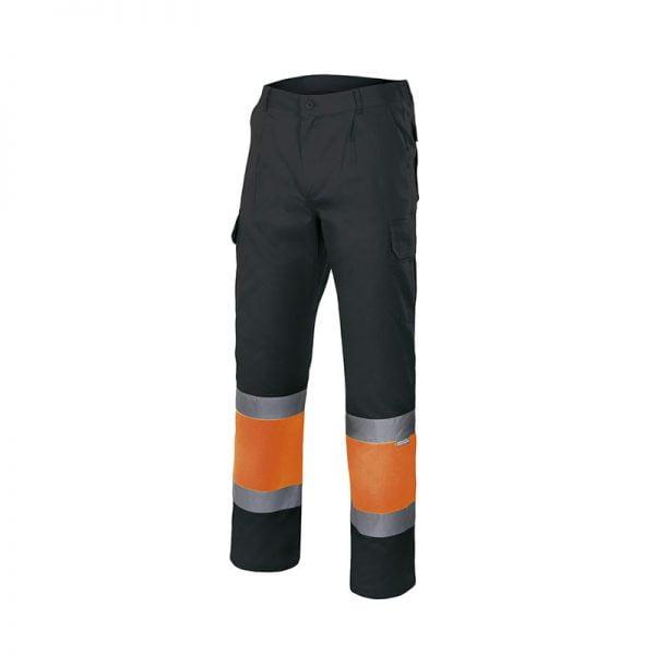 pantalon-velilla-alta-visibilidad-157c-negro-naranja