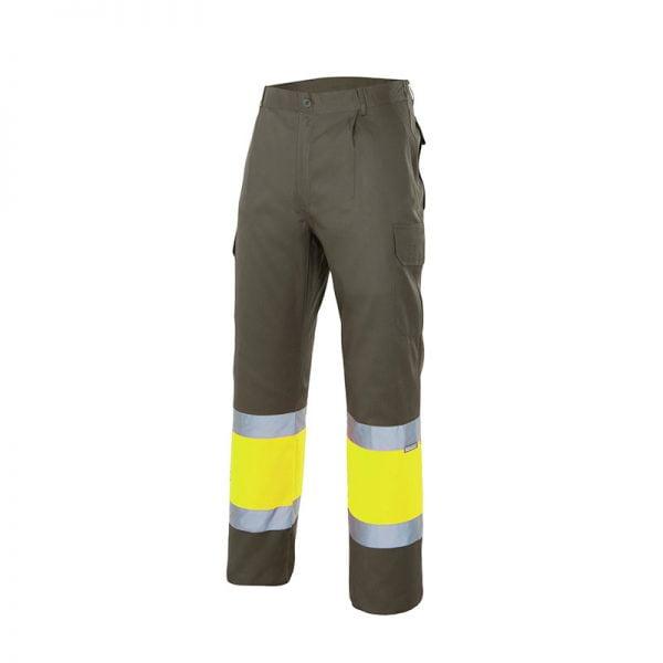 pantalon-velilla-alta-visibilidad-157c-verde-caza-amarillo