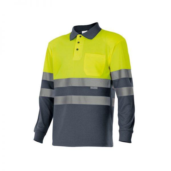 polo-velilla-alta-visibilidad-175-gris-amarillo