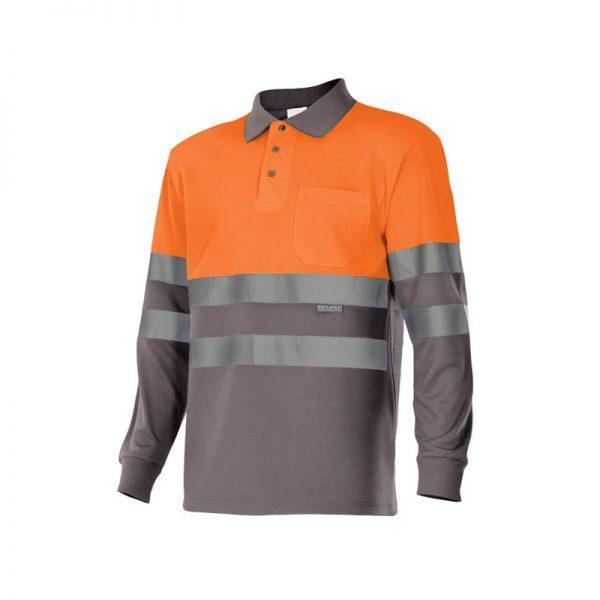 polo-velilla-alta-visibilidad-175-gris-naranja