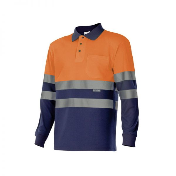 polo-velilla-alta-visibilidad-175-marino-naranja