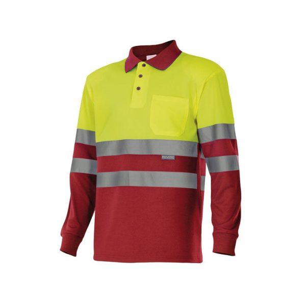 polo-velilla-alta-visibilidad-175-rojo-amarillo