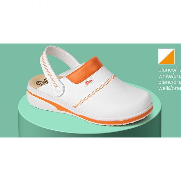 zueco-dian-mar-blanco-naranja