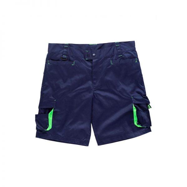 bermuda-workteam-wf1617-azul-marino-verde-fluor