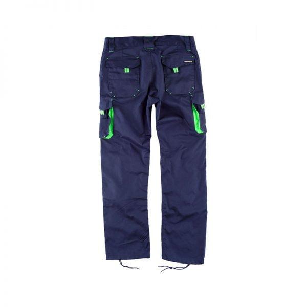 bermuda-workteam-wf1619-azul-marino-verde-fluor