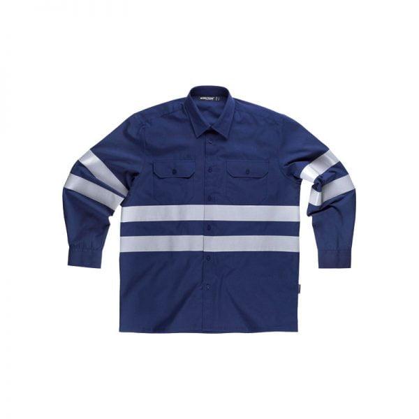 camisa-workteam-alta-visibilidad-b8007-azul-marino
