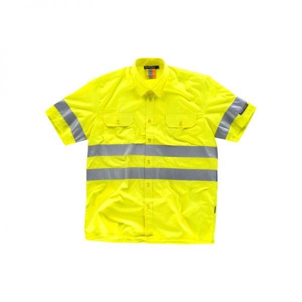 camisa-workteam-alta-visibilidad-c3810-amarillo-fluor
