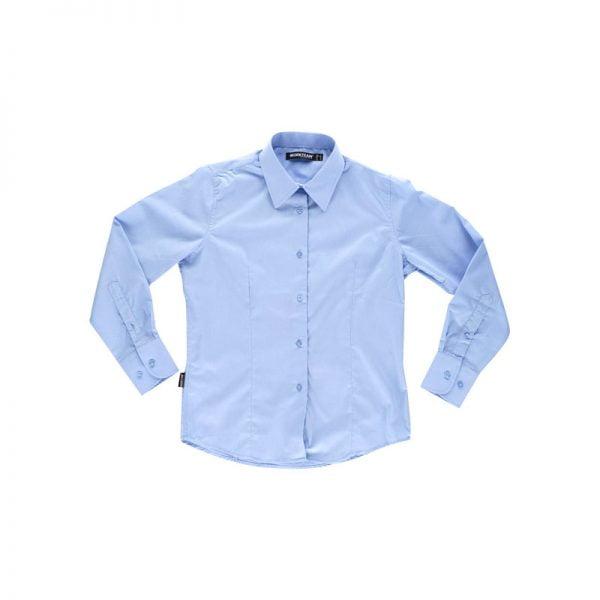camisa-workteam-b8090-azul-celeste