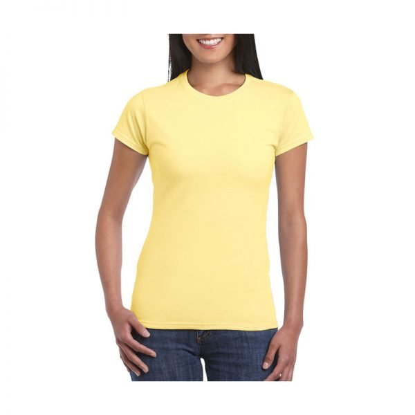 camiseta-gildan-softstyle-entallada-64000l-amarillo-maiz
