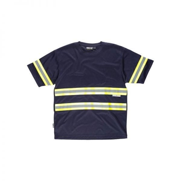 camiseta-workteam-alta-visibilidad-c3936-azul-marino-amarillo