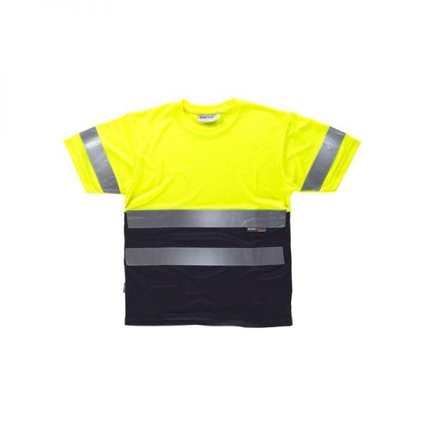 camiseta-workteam-alta-visibilidad-c3941-azul-marino-amarillo