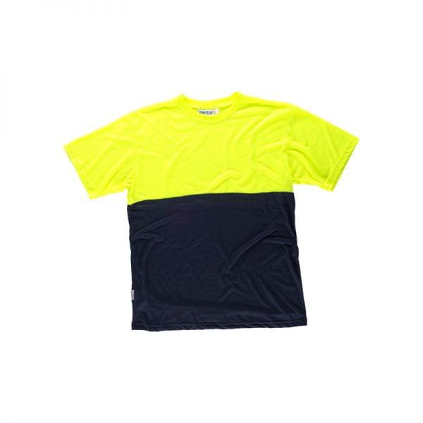 camiseta-workteam-alta-visibilidad-c6020-azul-marino-amarillo