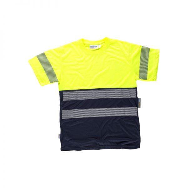 camiseta-workteam-alta-visibilidad-c6040-azul-marino-amarillo