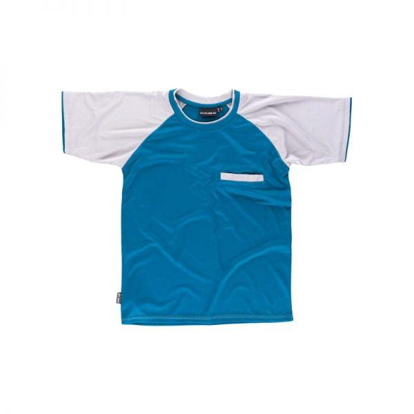camiseta-workteam-wf1016-gris-claro-azul-azafata
