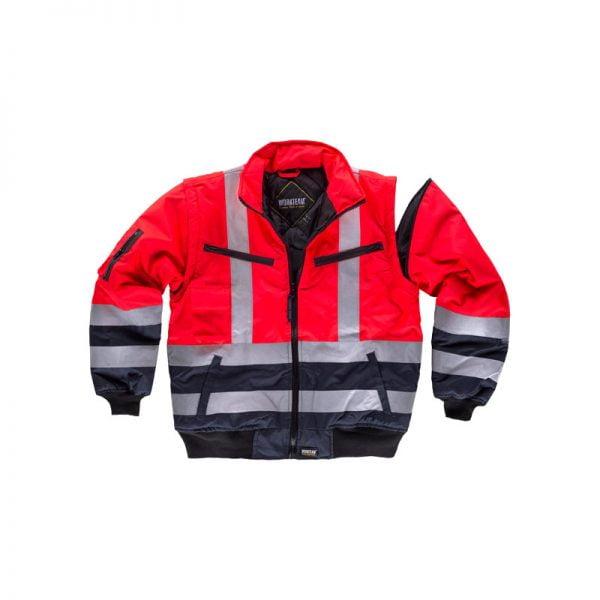 cazadora-workteam-alta-visibilidad-desmontable-c3737-azul-marino-rojo