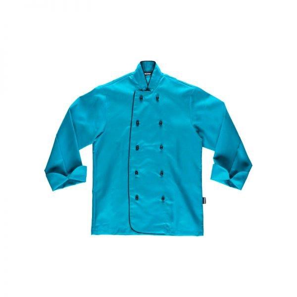chaqueta-workteam-cocina-b9205-azul-turquesa