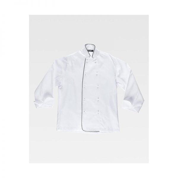 chaqueta-workteam-cocina-b9206-blanco-negro