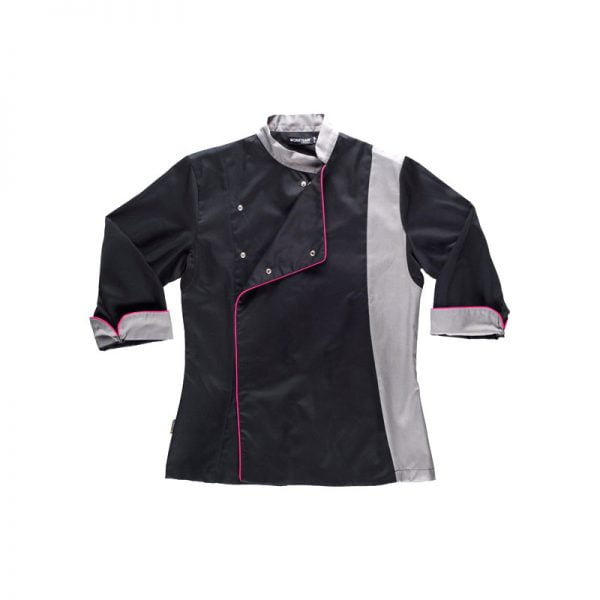 chaqueta-workteam-cocina-b9241-negro-gris