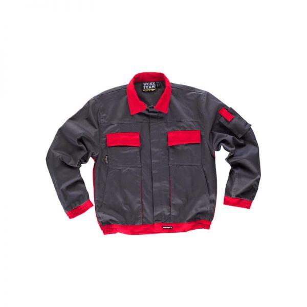 chaqueta-workteam-wf1150-gris-rojo