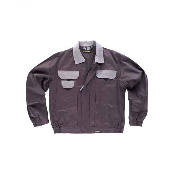 chaqueta-workteam-wf1160-gris