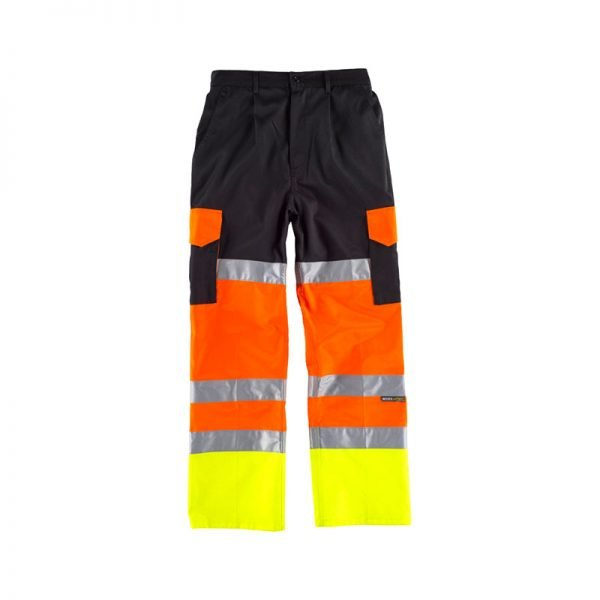 pantalon-workteam-alta-visibilidad-c3216-negro-amarillo-naranja