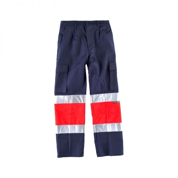 pantalon-workteam-alta-visibilidad-c4057-azul-marino-rojo