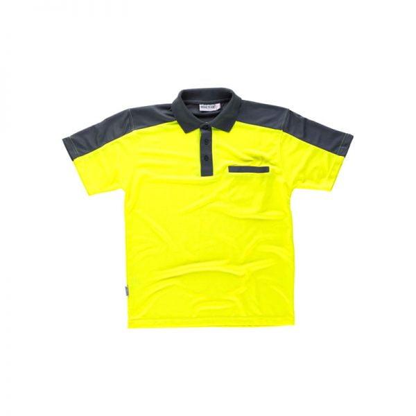 polo-workteam-alta-visibilidad-c2805-gris-amarillo-fluor