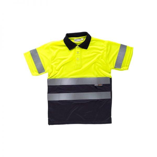 polo-workteam-alta-visibilidad-c3860-azul-marino-amarillo
