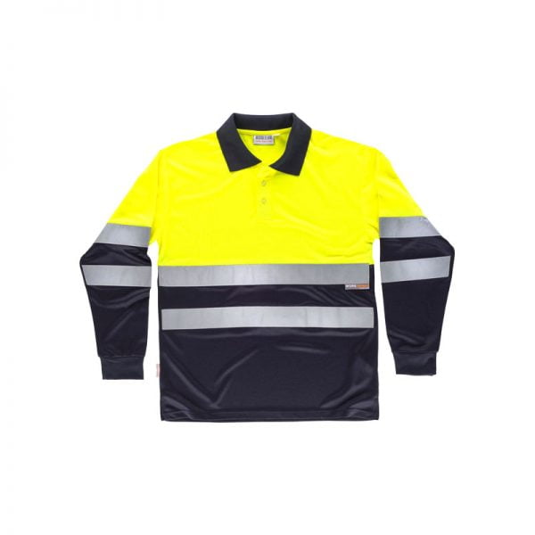 polo-workteam-alta-visibilidad-c3870-azul-marino-amarillo