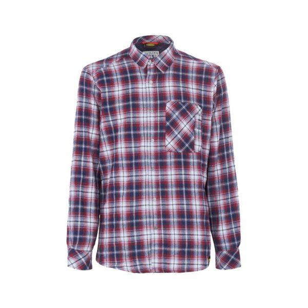 camisa-diadora-171662-shirt-check-azul-blanco-rojo