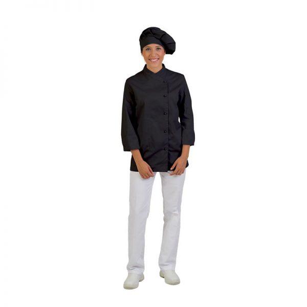 chaqueta-de-cocina-eurosavoy-113207c-bolonia-negro